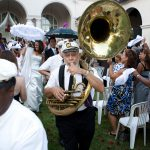Second Line New Orleans Ebell of Los Angeles Wedding Ceremony Ebell of Los Angeles Wedding Reception Sassy Girl Weddings & Events Los Angeles & Orange County Wedding Planner and Wedding Planning